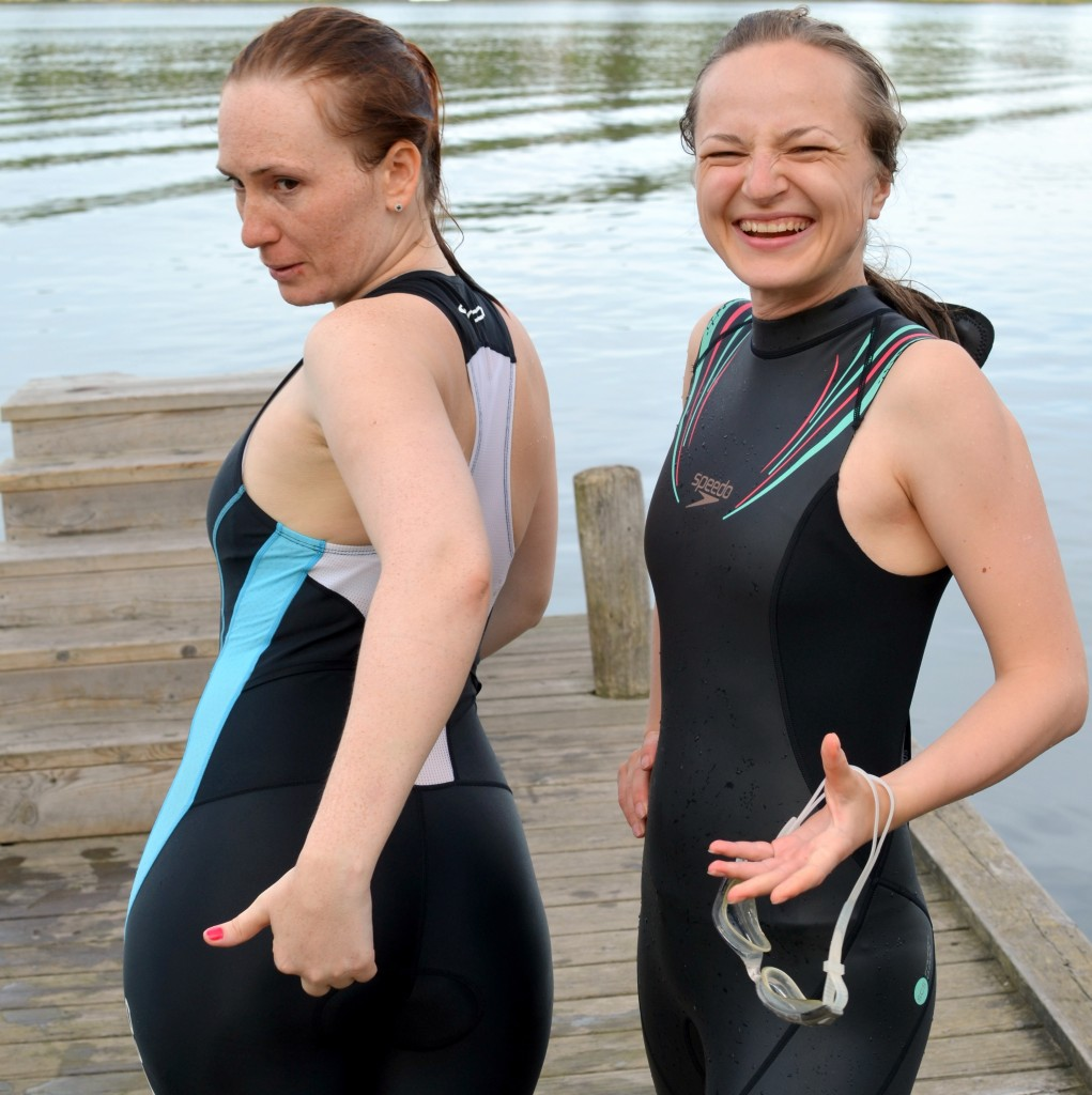 Funny explanation where the cushion should be in the tri suit.